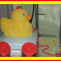 Rubber Duck In Wagon   This is out of a Wilton Yearbook. Thanks for looking.