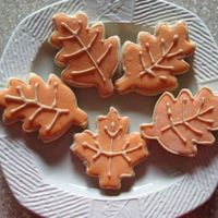 Fall Leaves  Just some quick cookies for my son's preschool class. I had to make them all the same to avoid fights at school. :-) They're NFSC...