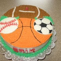 Sports Cake   I saw this cake here on CC (I forget who did it) and I thought it was a great design, so I decided to give it a whirl.