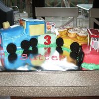 Sutter's Train  I HATE this cake. It took me forever to make and it still looks like ***not good***. Oh well....at least the birthday boy is only 3 and a...