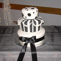 Black And White Wedding Cake Black and white wedding cake, all fondant!