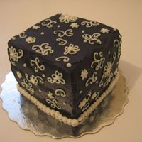 Black And White Square all buttercream, just something quick for fun!