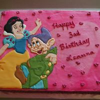 Snow White & Dopey Someone requested my Snow White cake but with a drawf. This one was not as easy. The color flow cake topper broke right as I laid it on the...