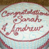 Bridal Shower Lemon cake with Raspberry Mousse filling, buttercream icing and details. TFL