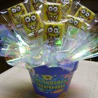 Squarepants Bouquet   NFSC with RBC and RI- painted the pot to match! :) TFL