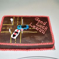 Car Accident Cake This is yellow cake w/ choc buttercream. This was for a co-worker who switched departments. We are in the auto claims department.