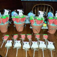 Easter Cookies These are the cookie bouquets I did for easter and then individual ones for the kids