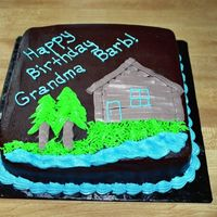 Birthday Cake chocolate cake w/ chocolate buttercream. Cake for a birthday