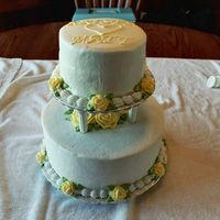Wedding Shower Cake Carrot cake & vanilla cake for wedding shower