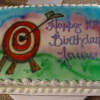 Airbrushed Bow & Arrow Believe it or not, this was for a 10 year old girl who was celebrating her birthday at a local archery place. She wanted a target and bow &...