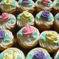 Pastel Cupcakes These were for a bridal shower...all different flavors