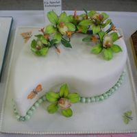 Mid - Atlantic Cake Show Sugar paste cymbidium orchids.