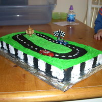 Nascar Cake NASCAR cake made for my son's 4th birthday.
