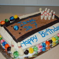 Bowling Party Cake For my son's 7th birthday. This is the first time making and working with MMF. Of course I got my ideas from other on this site........