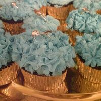 Tiffany Blue Cupcake For Bridal Shower