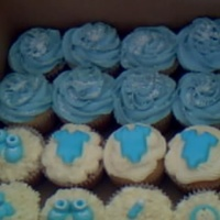 Baby Blue Baby Shower Cupcakes