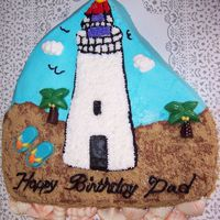 Friends Birthday Cake Idea from this site. Trees, shells, flip flops candy