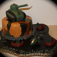 Army Cake With Tank