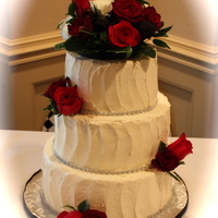 Rough Iced Wedding Cake