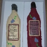 Wine Bottle Cakes   This is my first attempt at any kind of shaped cake. I made them for my dad, a wine lover, for his birthday.