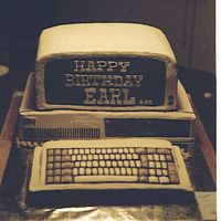 Before Internet Was Big This is cake and Butter Cream Icing. At a quick glance it looks almost like a real computer