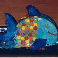 Rainbow Fish This was for a childs 1st birthday. The scales are Sprees. Only problem was the kids birthday is in June - Atlanta in July -- HOT!!! In...