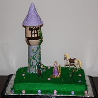 Tangled Cake - Rapunzel Thanks to all the previous Tangled theme cakes for inspiration!Tangled Theme Cake for my daughter's 6th birthday.