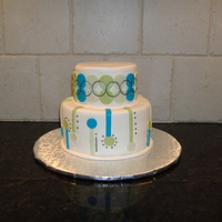"Modern Mother's Day This was a tiny cake 4"" and 6"" made for a modern mom, for Mother's Day."