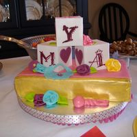 Books And Blocks This was for a baby shower that was book themed. The spine of the book is gold to look like the little golden books. The baby's name...