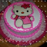 Hello Kitty Decorado con bettercream, la hello kity es fondant.
