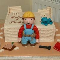 Bob The Builder This is all fondant and gumpaste. The walls were tricky to get straight so learned lots on the way! Any comments/feedback gratefully...