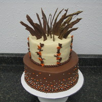 Fall Birthday Cake cake for a woman's birthday and they wanted a fall theme