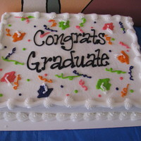 Graduation Another sheet cake idea from our open house