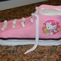 Hello Kitty  first time shoe, I want to take the time to thank CakesByLJ for all her helpI made this shoe for my niece she likes hello kittyand this is...