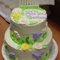 Flower Garden Cake This was for a goodbye party for a person at work...and my first time doing a flowery cake. Thank you to all the many talented people I...
