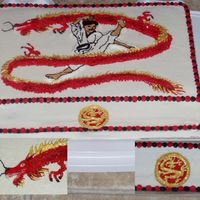 Tae Kwon Do Dragon Cake This was a remake of one of my first cakes. The original turned out so badly I never posted it on cc. I was much happier with this one. The...