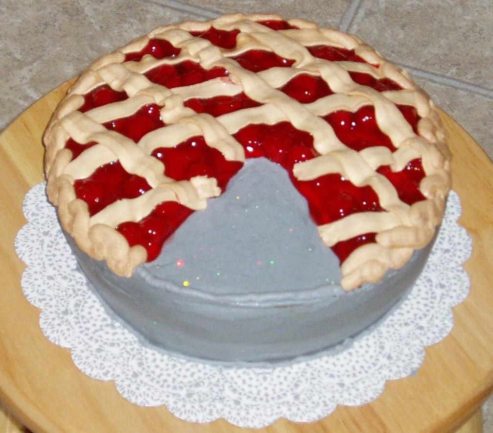 Cherry Pie Cake I made this cake for a pie contest at work (Did you know a layer cake with custard, jelly or cream filling is considered a pie according to...