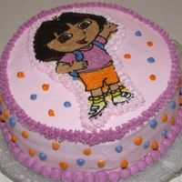 Dora Cake This is my first attempt at a FBCT. It's far from perfect, but for a first attempt I'm pretty happy. It's a trial run for a...