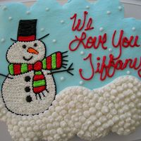 Snowman Cupcake Cake For a girlfriend who was going to Gatlinburg this weekend with the girls. Thanks for looking !! All buttercream-24 Cupcakes..