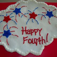 Fourth Of July Cupcake Cake