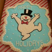 Frosty The Snowman Ccc Made for a friends kids class party. She said it was a hit...I really need to improve in my writing... Thanks for looking!