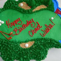 Golf Cupcake Cake For Chad Weslee My nephew is very serious about his golfing. He really loved the cake... I was pleased with this one though... Thanks for looking