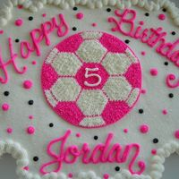Soccer Cupcake Cake My girlfriends daughter turned 5 and she wanted a soccer cake.. Thought the pink would make it more girly...It was a bit hit! Thanks for...