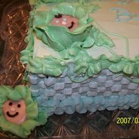 Cabbage Babies Corner Made for my daughter's shower. It was very warm, a California heat wave, and my buttercream was melting. The faces are petit fours. I...