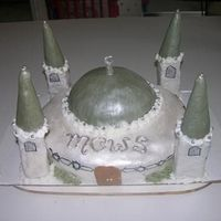 "Mosque Cake This was my first attempt making a 3D cake. Vanilla cake with raspberry filling. The writing says ""MCWS"" which is the Mosque&#039..."