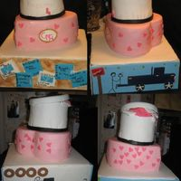 Anniversary Cake I made this cake for my anniversary as a surprise for my dh. The bottom tier is a dummy cake ALL decorations are mmf. The cake represents...