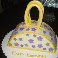 A Hand Bag For My Daughter   butter cake iced in bc and the rest all gp