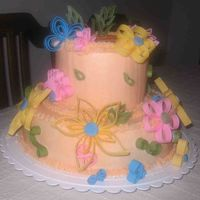 Butter Cake Covered In Bc And Mmf Flowers