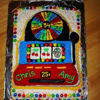 Slot Machine Cake I lifted this idea off this website again!! I loved how the cake turned out! It was so much work, but worth it! The colofrul m&m's...