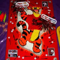Tigger World Series Cake My daughter turned 14 and didn't really want a theme party, but I did! So I told her to pick anything! She chose Tigger! But as the...